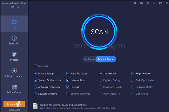 Advanced SystemCare 14 PRO manual scan