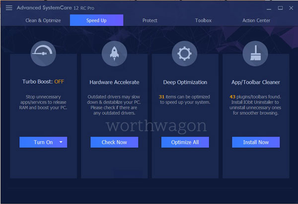Advanced SystemCare Pro 12 Speed Up