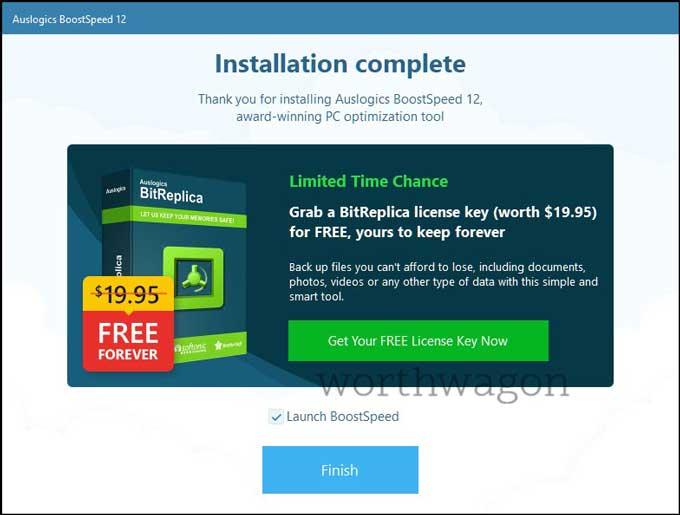 Auslogics BoostSpeed 12 Installed