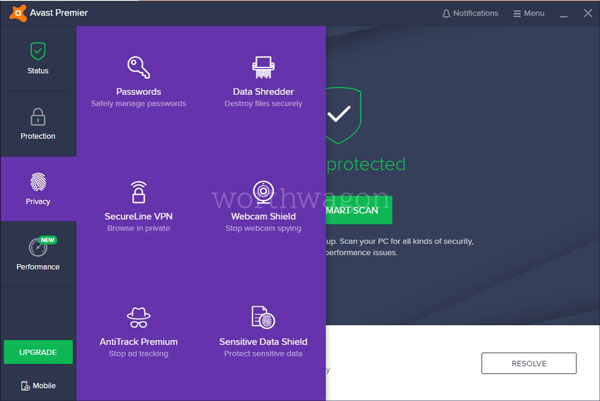 Avast Premier Privacy Features