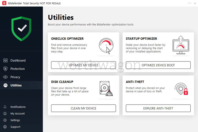 Bitdefender Total Security 2019 Review Utilities
