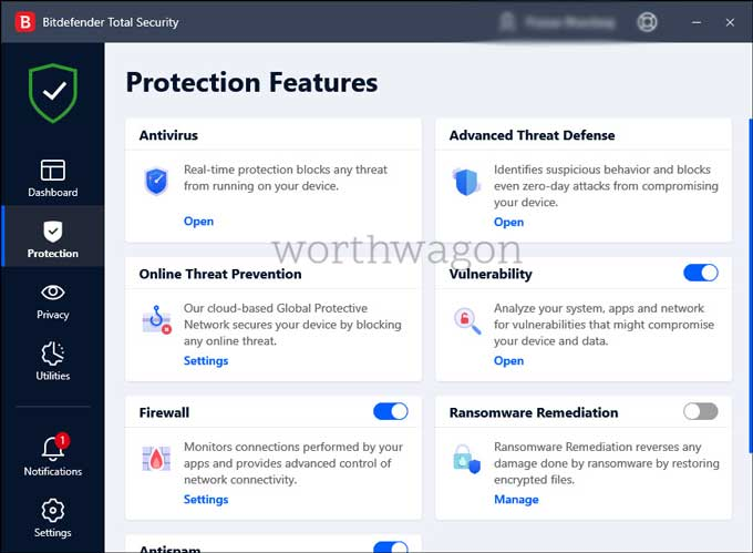 Bitdefender Total Security 2021 Protection Features