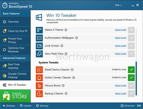 BoostSpeed 10 Win 10 Tweaker