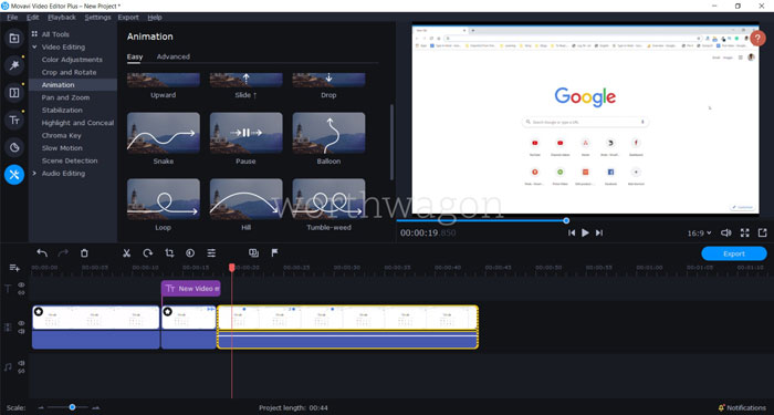 Movavi Video Editor Plus 2020 Animations
