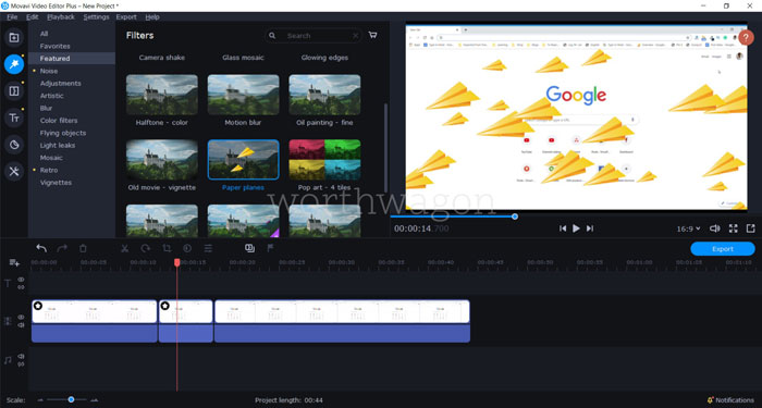 Movavi Video Editor Plus 2020 Filter