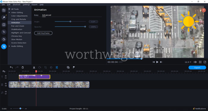 Movavi Video Editor Plus 2020 Review - Animation