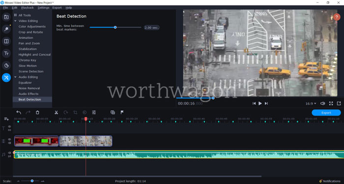 Movavi Video Editor Plus 2020 Review - Beat Detection