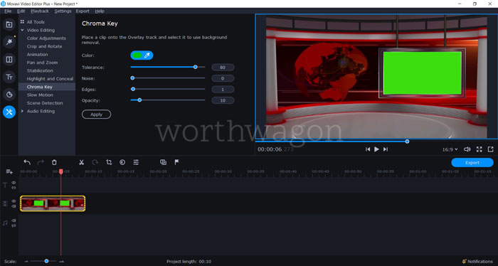 Movavi Video Editor Plus 2020 Review - Chroma Key