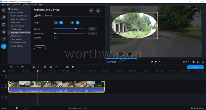 Movavi Video Editor Plus 2020 Review - Highlight and Conceal