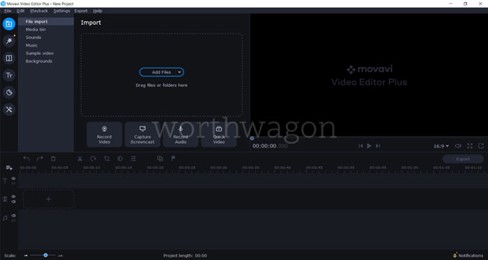 Movavi Video Editor Plus 2020 Review User Interface