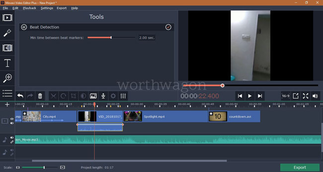 Movavi Video Editor Plus Beat Detection