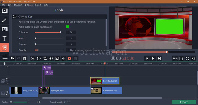 Movavi Video Editor Plus Chroma Key
