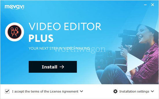 Movavi Video Editor Plus Installation 1