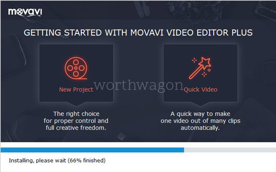 Movavi Video Editor Plus Installation 2