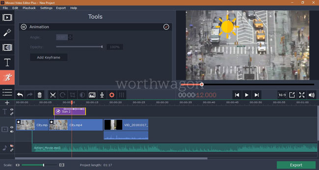 Movavi Video Editor Plus Object Animation