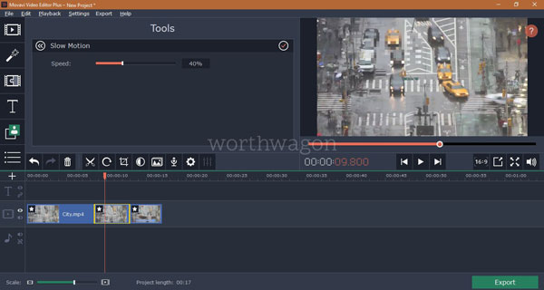 Movavi Video Editor Plus Slow Motion