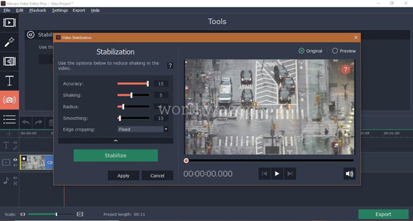 Movavi Video Editor Plus Stabilization