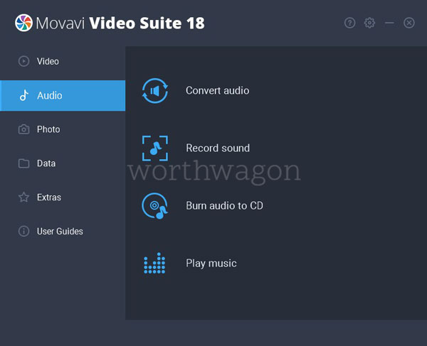 Movavi Video Suite 18 - Audio Options