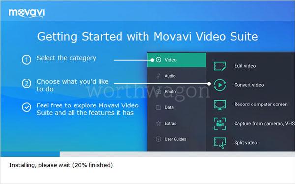 Movavi Video Suite 18 Installation