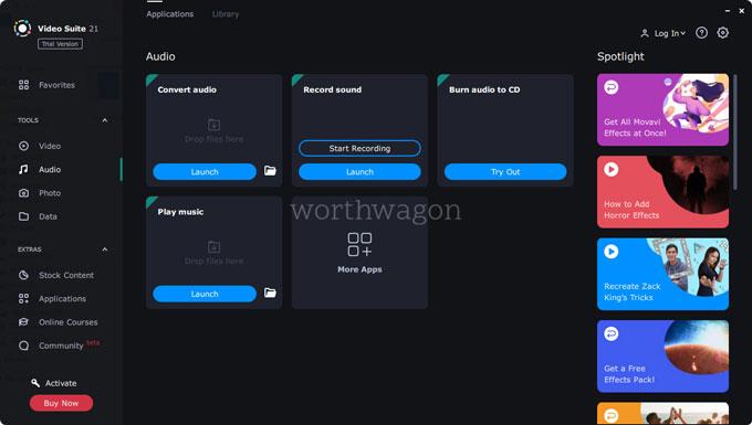 Movavi Video Suite 2021 Audio tools