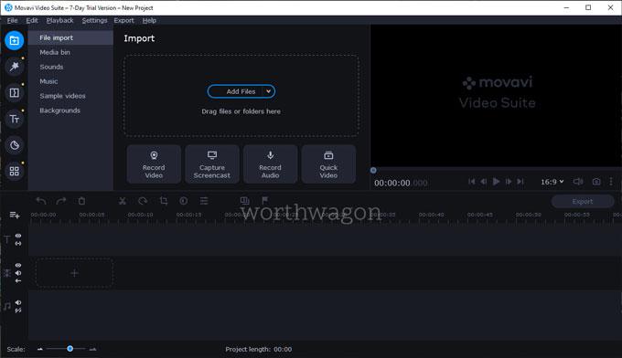 Movavi Video Suite 21 Video Editor