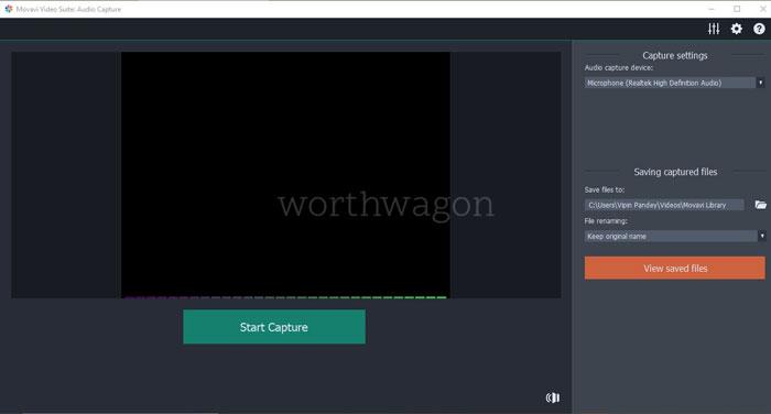 Movavi Video Suite Audio Capturing