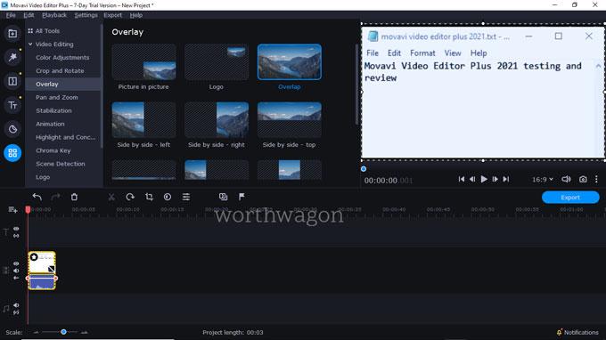 movavi video editor plus 2021 overlay