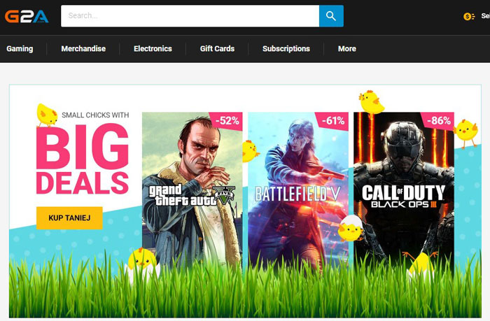 G2A - Ways to Save Money on PC Games