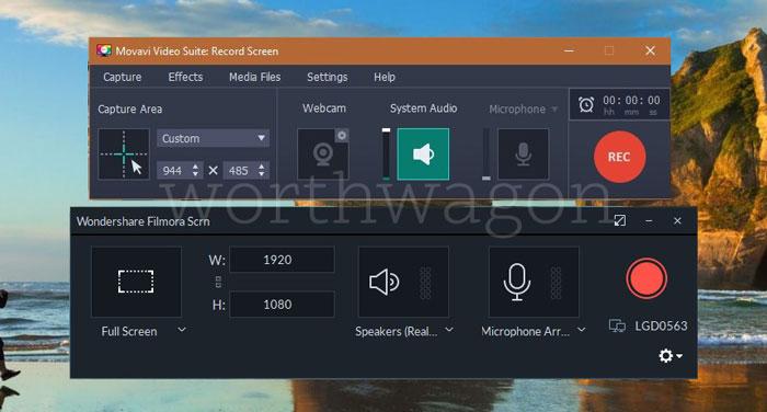Filmora vs Movavi Screen Recorder Comparison