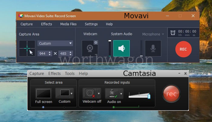 Movavi vs Camtasia - Screen Recorder Comparison