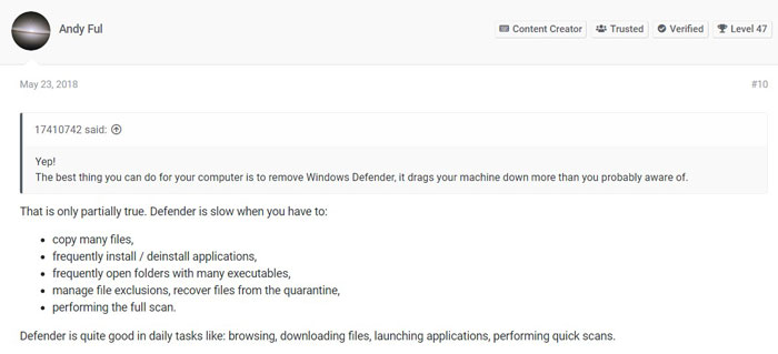 Windows Defender vs Bitdefender - User Reviews 2