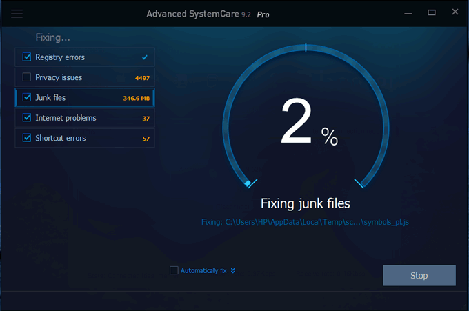 Advanced SystemCare Optimization