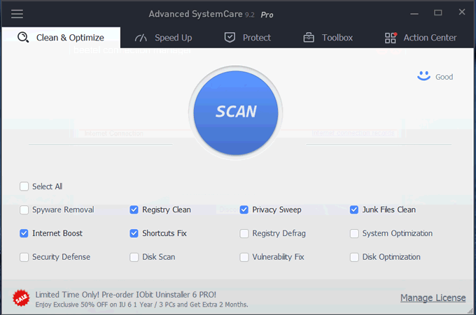 Advanced SystemCare UI