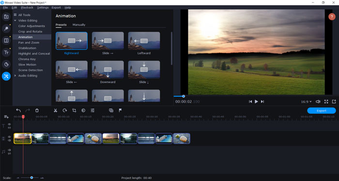 Movavi Video Suite 2020 - Video Editor Features