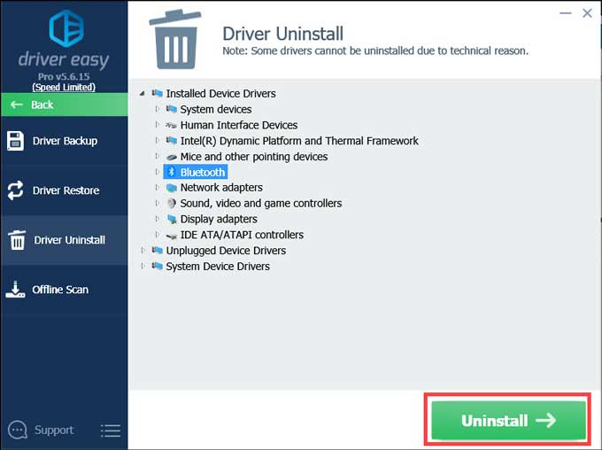 Driver Easy Driver Uninstall
