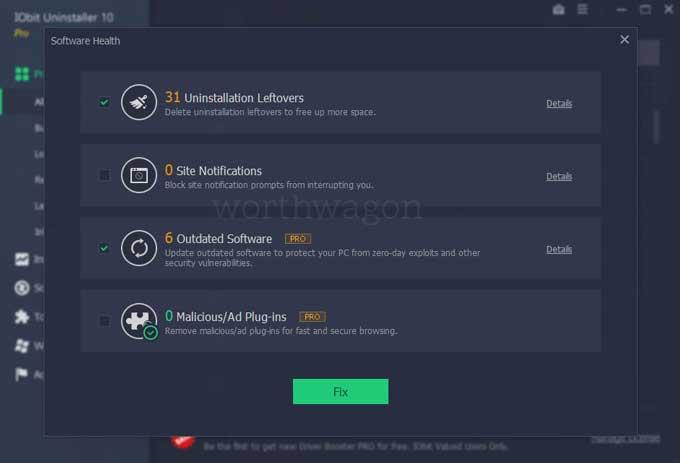 iobit uninstaller pro 10 software health