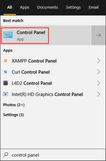 Open Control Panel