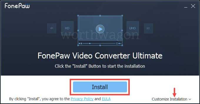 FonePaw Video Converter Install
