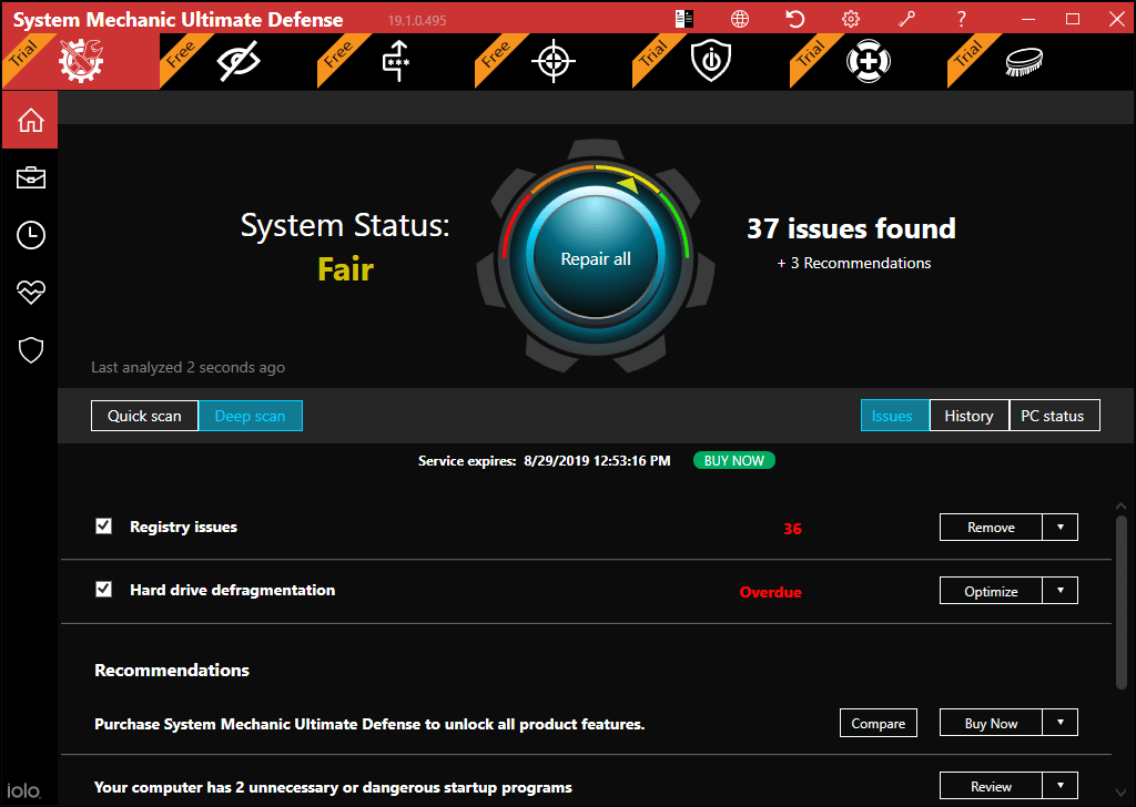 iolo System mechanic Pro to improve computer performance